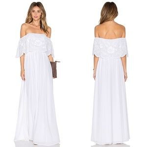 Lovers + Friends The Hawaii Embroidered Maxi Dress